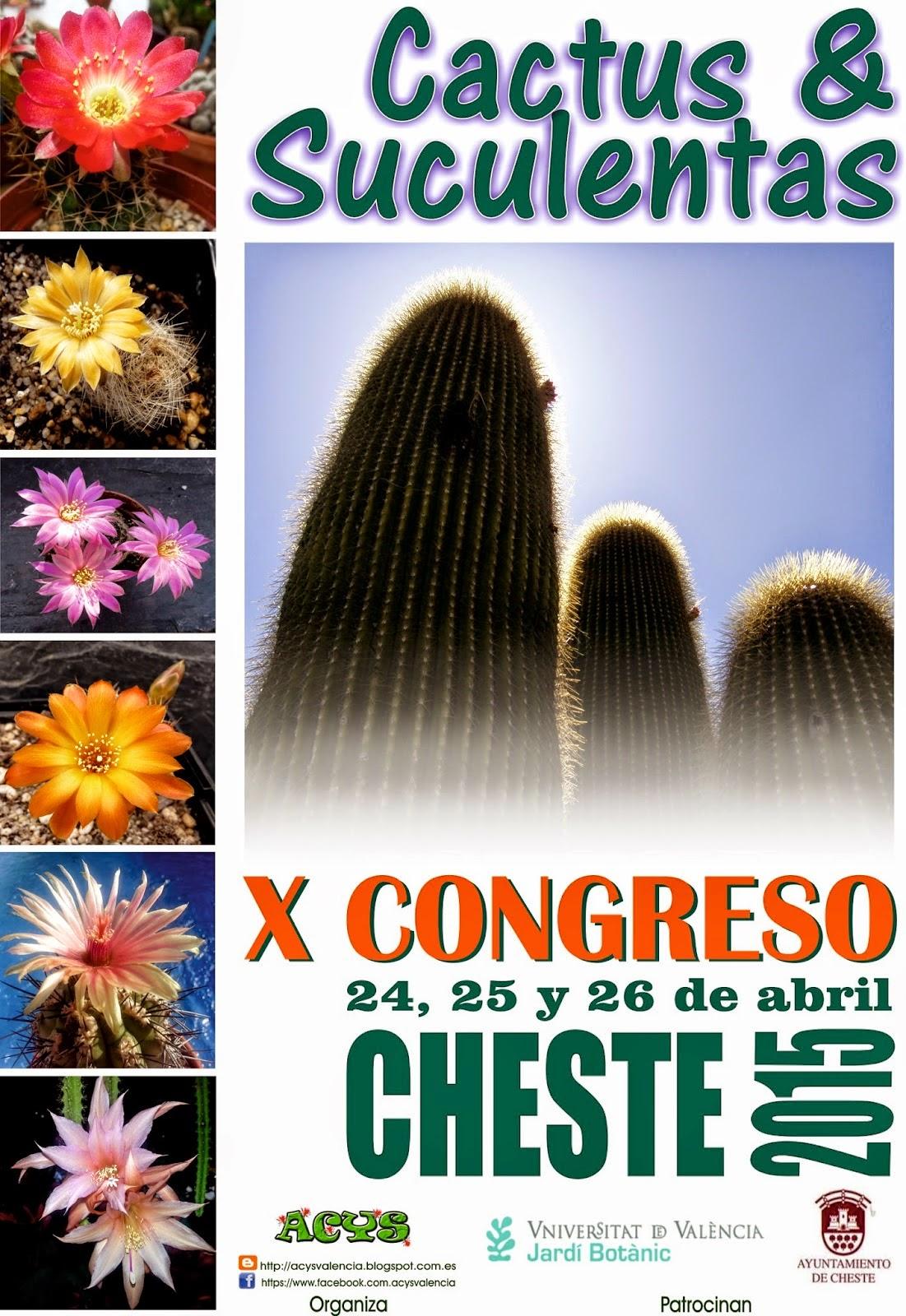 Cheste 2015, X exposición de Cactus y Suculentas.