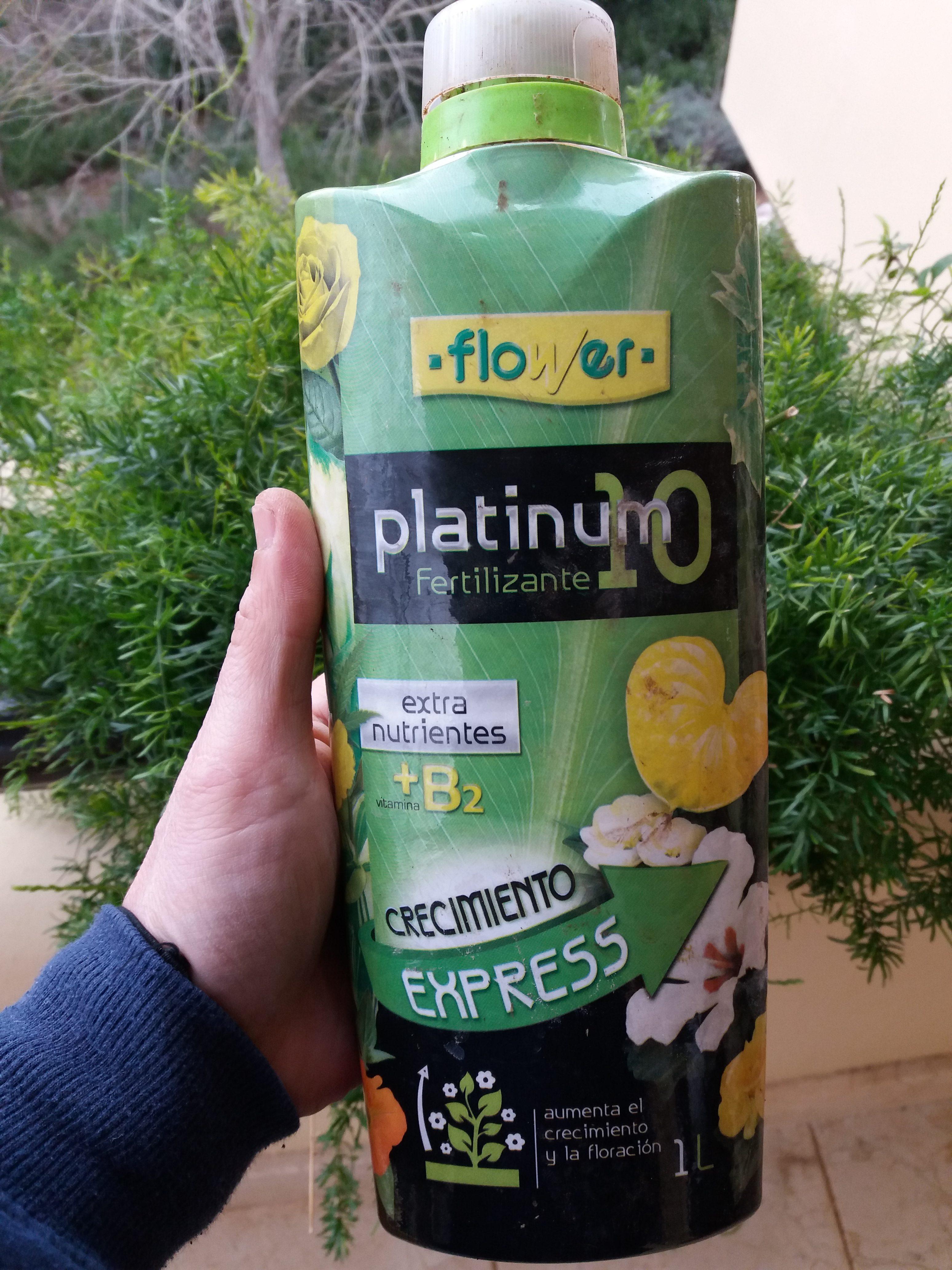 Fertilizante Platinum10, excelente.