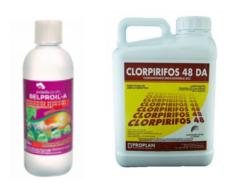 Aceite de parafina y clorpirifos
